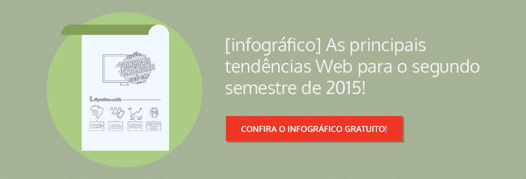 Infográfico: Principais tendências web 2015!