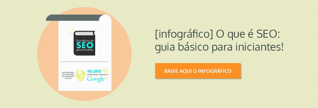 Infográfico: O que é SEO: guia básico para iniciantes!
