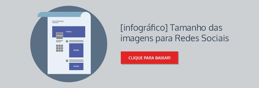 Infográfico: Tamanho ideal para postagem nas Redes Sociais + PSD Exemplo