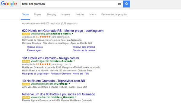 Com o fim dos anúncios laterais do Google Adwords, buscas orgânicas têm maior valor