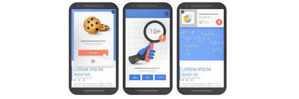 Elementos otimizados em sites para celulares