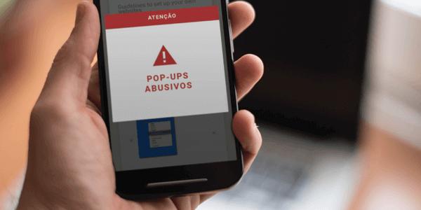 Cuidado com pop-up em sites feitos para dispositivos móveis